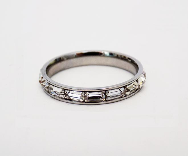 Δαχτυλίδι Ατσάλινο Βέρα Μεγάλα Ζιργκόν