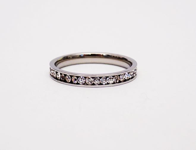 Δαχτυλίδι Βέρα Ατσάλινο Με Ζιργκόν
