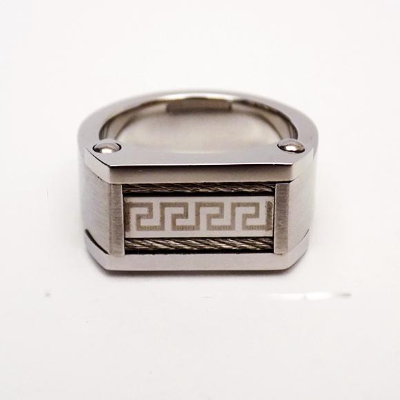 Δαχτυλίδι Ατσάλινο Ανδρικό Πλακέτα Μαίανδρος